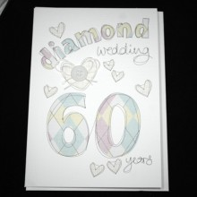 Wedding anniversary card 60 - Diamond wedding 60 years